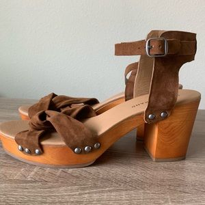Lucky Brand Whitneigh Chunky Heel Clog Sandal 10